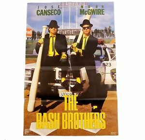 NOS The Bash Brothers Vintage Man Cave Baseball Poster Canseco McGwire Oakland