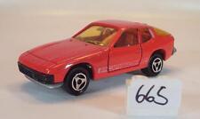 Majorette 1/60 Nº 247 Porsche 924 Coupé rouge Nº 4 #665