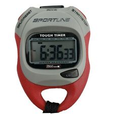 Sportline Tough Timer Stopwatch Digital Tally Counter Shock-Resistant w/ manual