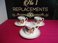 3 x Queens Hookers FRUTTA ALBICOCCA Caffè Espresso Tazze e piattini