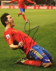PROOF! DAVID VILLA Signed Autograped 8x10 Photo SPAIN FC BARCELONA Soccer