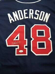 IAN ANDERSON SIGNED BRAVES WHITE CUSTOM JERSEY