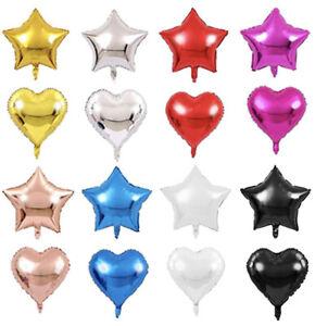 18in Star Balloon Heart Balloon 6 Pieces