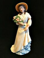 Vintage Homco Charlotte Rose Victorian Lady Woman Porcelain Figurine  #1468