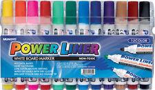 MUNGYO COLORI ASSORTITI WHITE BOARD MARKER PENNE Dry Erase facile da pulire-Set di 12