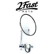 2FastMoto Chrome Clamp On Mirror Street Sport Bike Aprilia Ducati