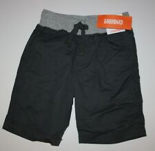 New Gymboree Boys Gray Camp Shorts Size 5 Year Pull On Ribbed NWT Jawsome Line