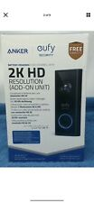 Eufy Security Battery Powered Video Doorbell w/2K HD Resolution Add-on Unit- New