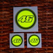 Valentino Rossi 46 Decal 3 Sticker Fluorescent Yellow - FANTASTIC - SEASON 2016