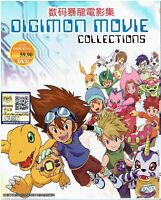 DIGIMON MOVIE COLLECTIONS - COMPLETE ANIME MOVIE SERIES DVD (14 MOVIES)