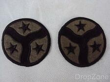 Pair of US Army 278th Armoured Cavalry Regiment Subdued Cloth Badges Patches