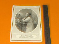 CHROMO 1883 CATHOLICISME IMAGES PIEUSES HOLY CARD EUCHARISTIE FEMME EN PRIERE