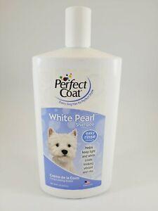 PERFECT COAT 32 oz WHITE PEARL SHAMPOO FOR DOGS Creme de la Coco Long Lasting