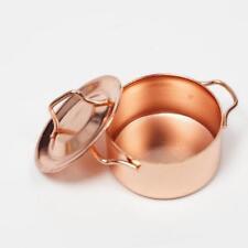 Copper Cooking Pan Pot 1/12 Dollhouse Miniature Kitchen Cookware Accessory