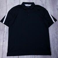 Nike Golf Polo Shirt Mens Large Black Dri-Fit Performance Short Sleeve P223