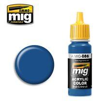 Ammo of Mig Jimenez Bule Ral 5019 Acrylic Color 17mL #0086