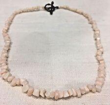Vintage Salmon Pink Angel Skin Coral Branch Nugget Necklace
