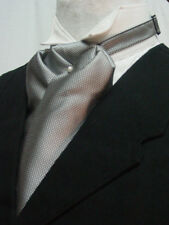 Ascot tie Old West world Victorian Edwardian Wedding style gray adjustable