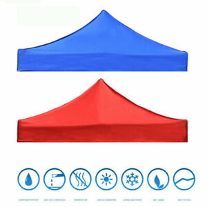 AU Garden BBQ Gazebo Top Cover Roof 3x3m Replacement Fabric Tent Canopy