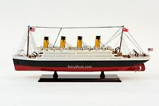 "RMS Titanic Cruise Ship 25"" - Handcrafted Wooden Model Ship NEW"
