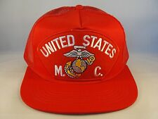 USMC Red Trucker Snapback Hat Cap