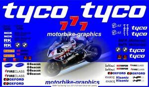 BMW Tas Racing Tyco 2015 full Race Decal set Laverty