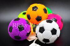 12 Light-Up Puffer Balls Yo-Yo Soccer Stretchy Elastic Flashing Rubber LED Party