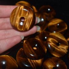 Natural Tiger's-Eye Stone Crystal Carved Doughnut Healing Beautiful Gemstone