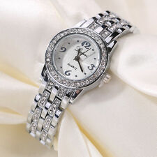 Fashion Women Bracelet Crystal Stainless Steel Dress Analog Quartz Wrist Watches