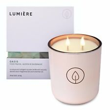 NEW Lumiere Rose Gold Oasis Candle Fresh Marine, Jasmine & Sandalwood Fragrance