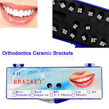 Dental Orthodontic Monocrystalline Sapphire Ceramic Brackets Roth 022 345 Hooks