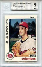 1990 Columbus Mudcats Best, Luis Gonzalez #4 BGS 9