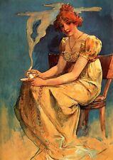 Alfons Alphonse Mucha Old Art Nouveau Deco Spirit of Spring Pictures 3 Print Set