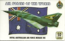 RARE / PHONECARD PREPAID - AIR FORCES : ROYAL AUSTRALIE MIRAGE IIIE