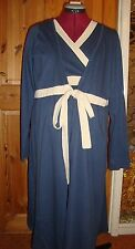 BNWT MATERNITY Blue/Cream Long Sleeved Robe/Dressing Gown L - 14-16