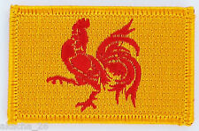 PATCH ECUSSON BRODE DRAPEAU WALLONIE BELGIQUE INSIGNE THERMOCOLLANT NEUF FLAG