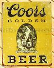 Coors Golden Beer TIN SIGN vtg ad reproduction metal bar garage wall decor 1648