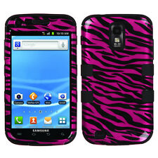 For Samsung Galaxy S II 2 T989 IMPACT TUFF HYBRID Case Cover 2D Hot Pink Zebra