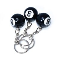1 Pcs Lucky NO.8 Billiard Pool Keychain Snooker Table Ball Key Ring HOT SX DC149