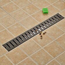 Oil Rubbed Bronze Floor Drain Square Bathroom Shower Grate Waste Drainer 70*10cm