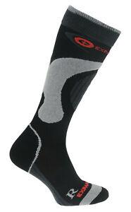 Winter Ski Siltex Socks Long Snowboard Warm Shaped Wool Antibacterial Grey Black