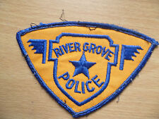 Patches: RIVER GROVE POLICE PATCH (NEW. apx.3x4.4 inch)