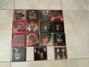 KISS COASTERS -CERAMIC TILES - ALBUMS -  SIMMONS- STANLEY - FREHLEY - CRISS RARE