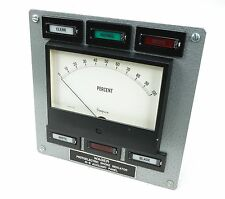 US Navy Wager Marine Boiler Room Visual Photoelectric Smoke Gage Meter Indicator