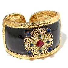 "Larisa Barrera ""Your Palace or Mine"" Crystal Goldtone Hinged Cuff Bracelet HSN"