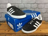 ADIDAS LADIES UK 5 EUR 38 ORIGINALS GAZELLE DARK GREY SUEDE TRAINERS