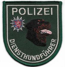 K-9 Polizei HESSEN DienstHundFührer Patch grün ROTTWEILER 90er DHF Abzeichen