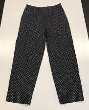 Fabrizio Gianni Stretch 4 black with white polka dot dress pants women's Capri