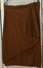 "ANGELO TARLAZZI Paris Vintage Waterfall Skirt M-L 35"" Waist Caramel Knitted Midi"