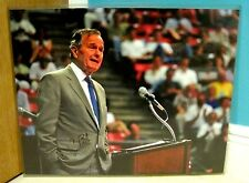 GEORGE H.W. BUSH AUTOGRAPHED SIGNED 16X20 PHOTO W/COA & PROOF